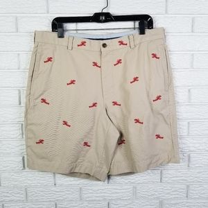 Brooks Brothers Embroidered Lobster Shorts 36